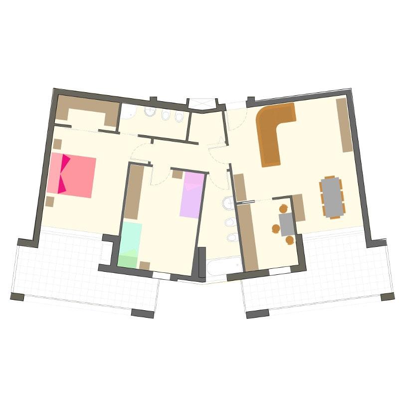 appartamenti gabelletta terni primo piano via omega