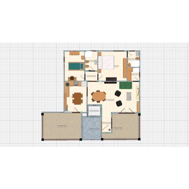 vendita appartamenti stroncone palombara planimetria primo piano