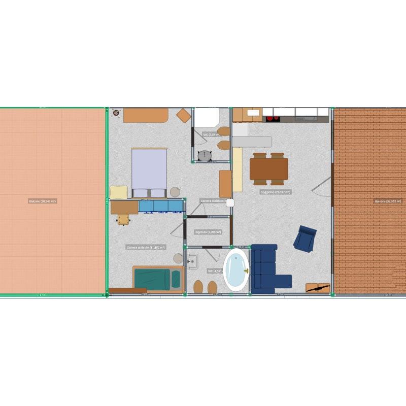 vendita appartamenti stroncone palombara planimetria